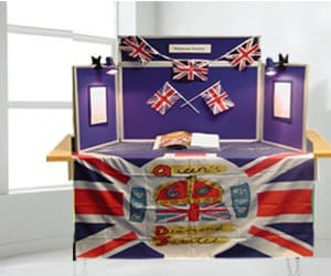 Diamond Jubilee Display Stand - using a Panel Warehouse Midi Desk Top Display Stand