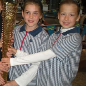 Connie Olympic torch