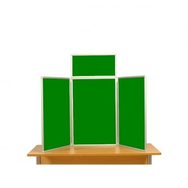 Desktop Display Boards, 3 Panel Maxi with Aluminium Frame and Case