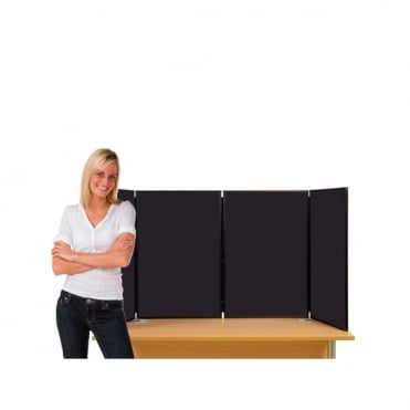 Desktop Display Boards, 4 Panel Maxi with Plastic Frame and Case
