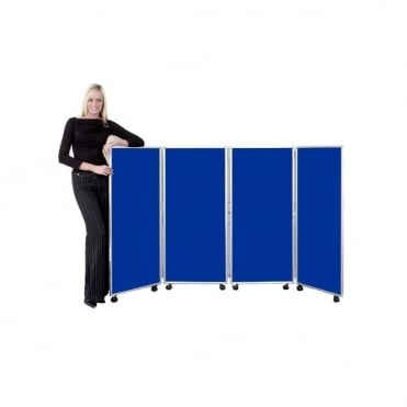 Mobile Folding Room Divider 1200mm high Nyloop Fabric