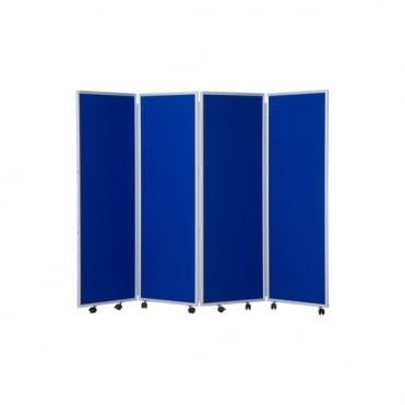 Mobile Folding Room Divider 1500mm high Nyloop Fabric