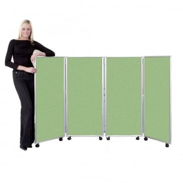 Mobile Folding Room Dividers 1200mm high Wipeable Fabric