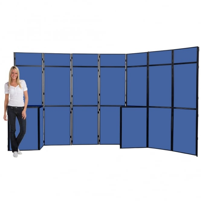 19 Panel Slimflex Exhibition Stand, Black Frame, Panel & Pole inc cases