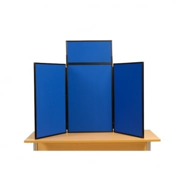 3 Panel Desktop Display Boards Next Day Delivery