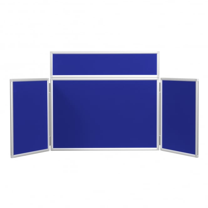 3 Panel Midi Desktop Display Boards with Aluminium Frame