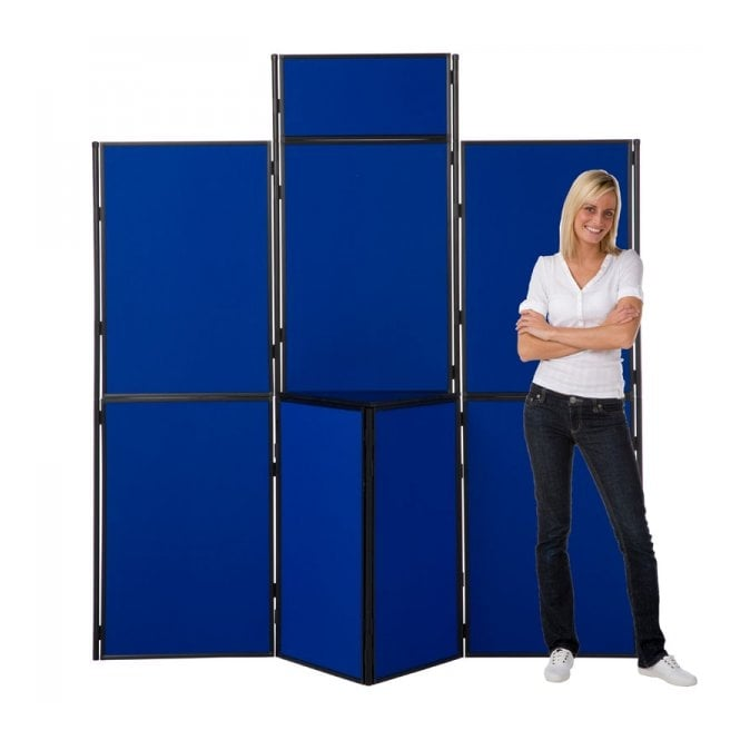 8 Panel Slimflex Exhibition Stand, Black Frame, Panel & Pole inc case