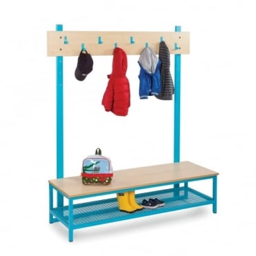 Bubblegum Cloakroom Storage with Coat Hooks and Boot Rack