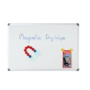 Budget Dry Wipe Board, Aluminium Frame, Magnetic Surface