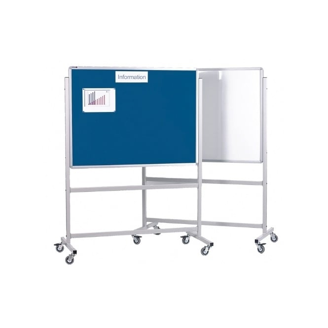 Combination Mobile Noticeboard and White Board