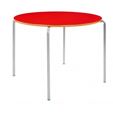 Crush Bent Circular Classroom Table with MDF Edge