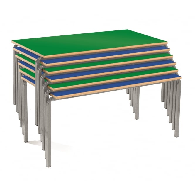 Crush Bent Rectangular Classroom Table with PU Edge