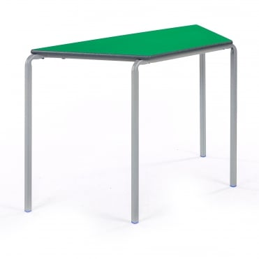Crush Bent Trapezoidal Classroom Table with PU Edge