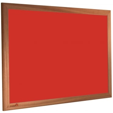 Deluxe Pin Board / Notice Board. 900mm x 600mm, Wood Frame