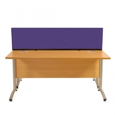 Desk Mounted Partition 1790mm w x 390mm x 390mm h, Woolmix Fabric
