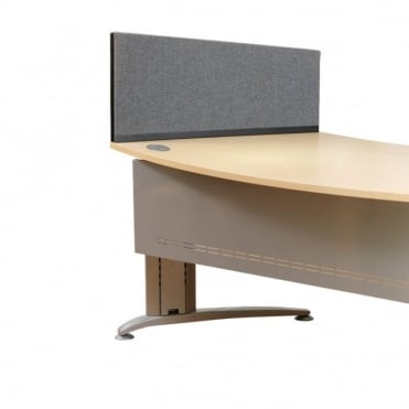 Desk Screen, Angled, 790mm x 390mm x 300mm, Woolmix Fabric