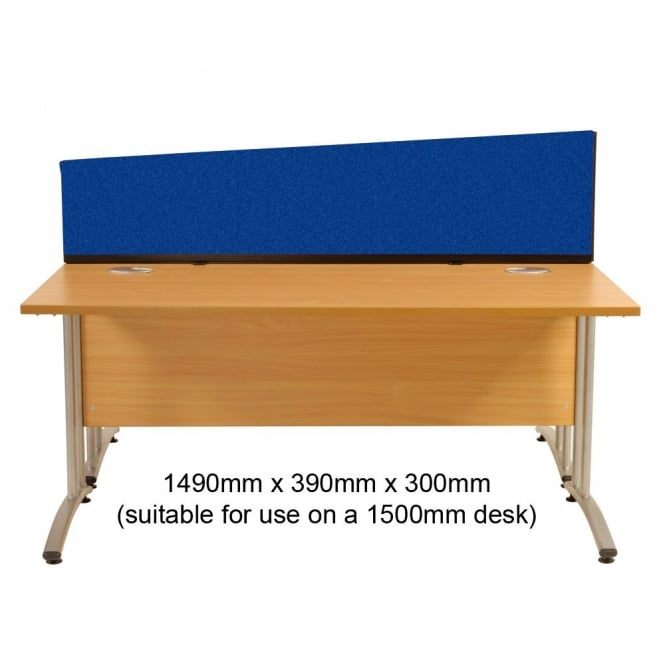 Desk Screen Dividers, Angled, 1490mm x 390mm x 300mm, Woolmix Fabric