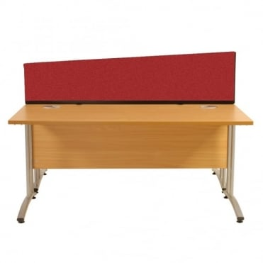 Desk Screen Dividers, Angled, 1790mm x 390mm x 300mm, Woolmix Fabric