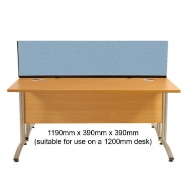 Desk Screen Dividers, Straight, 1190mm x 390mm x 390mm, Woolmix Fabric