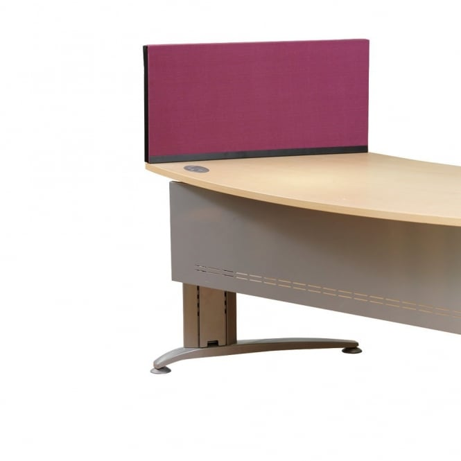 Desk Screen, Straight, 790mm x 390mm x 390mm, Woolmix Fabric
