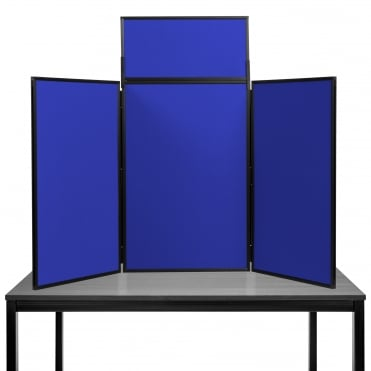 Desktop Display Boards, 3 Panel Maxi with Plastic Frame and Case