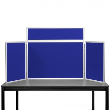 Desktop Display Boards, 3 Panel Midi with Aluminium Frame and Case