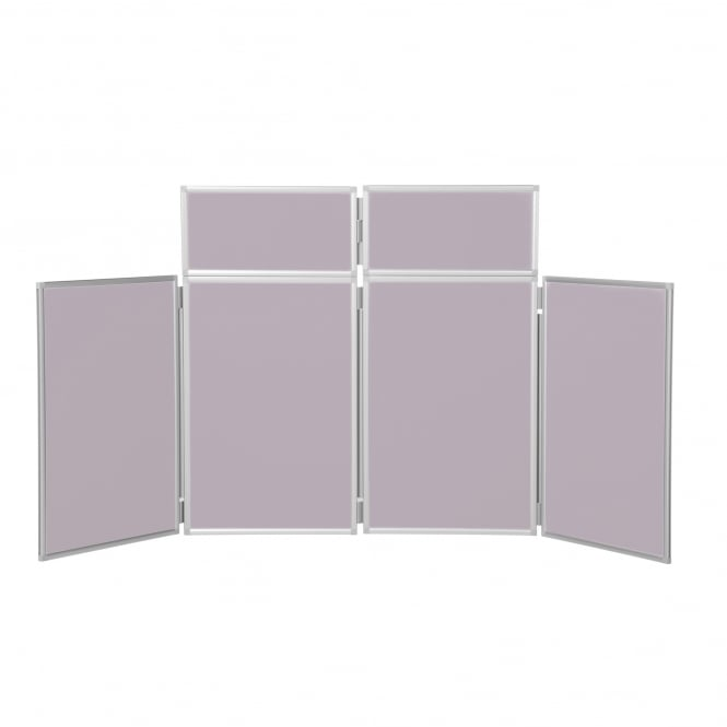 Desktop Display Boards, 4 Panel Maxi with Aluminium Frame and Case