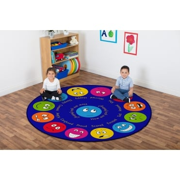 Emotions Interactive Circular Carpet