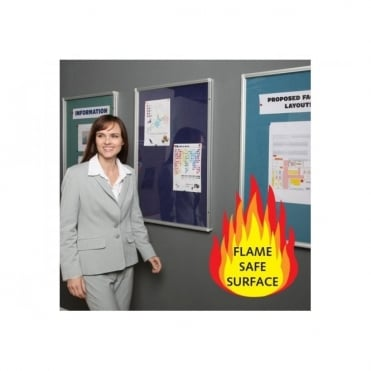 Fire Retardant Lockable Notice Board, 1 Door