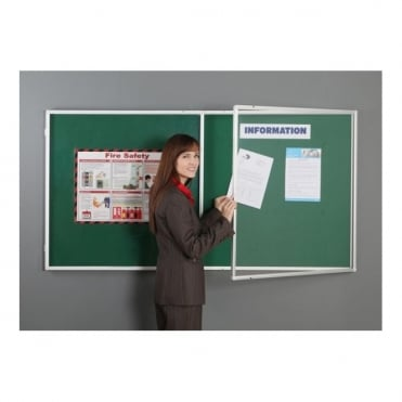 Fire Retardant Lockable Notice Board, 2 Door
