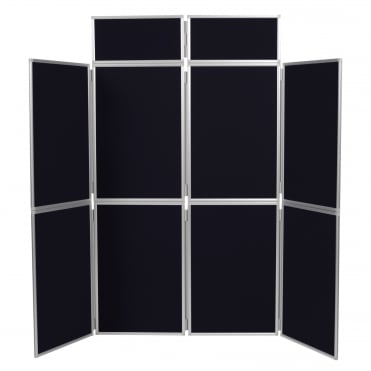Folding Exhibition Display Stand, Black 8 Panel From Panel Warehouse