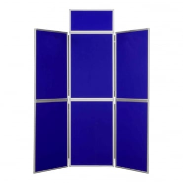 Folding Exhibition Display Stand, Blue 6 Panel From Panel Warehouse