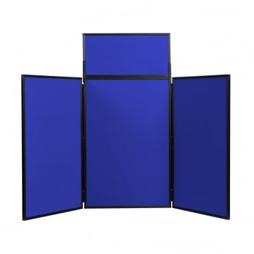 Folding Table Top Display Boards, Blue 3 Panel Maxi From Panel Warehouse