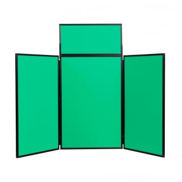 Folding Table Top Display Boards, Green 3 Panel Maxi From Panel Warehouse