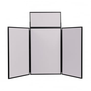 Folding Table Top Display Boards, Grey 3 Panel Maxi From Panel Warehouse