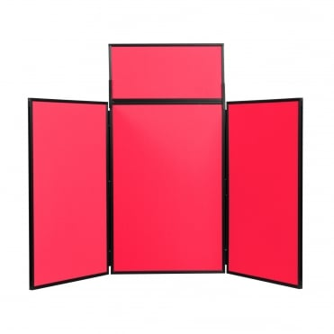 Folding Table Top Display Boards, Red 3 Panel Maxi From Panel Warehouse