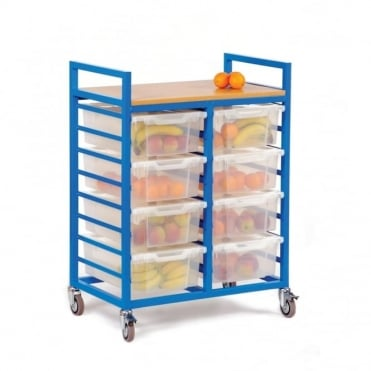 Fruit Trolley with 8 Deep Trays