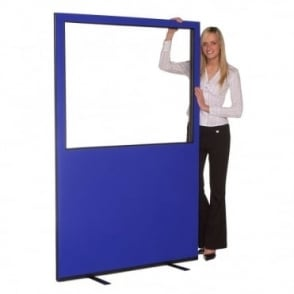 Glazed Office Partition 1200mm w x 1800mm h, nyloop fabric