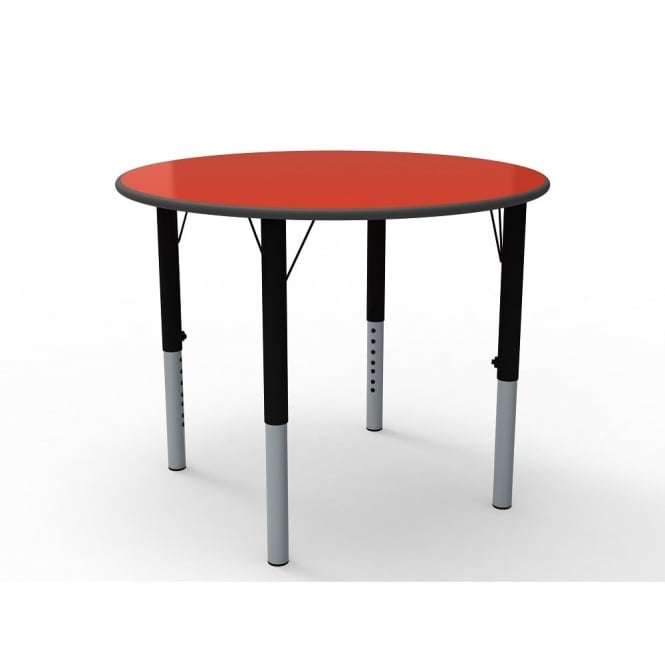 Height Adjustable Circular Classroom Table