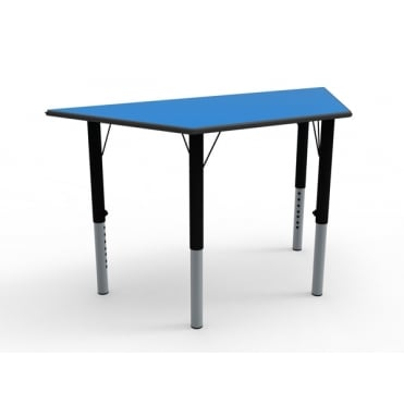 Height Adjustable Trapezoidal Classroom Table