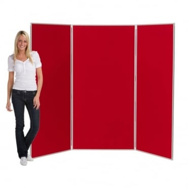 Jumbo Display Boards, 3 Panel with Grey Plastic Frame