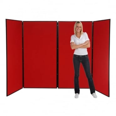 Jumbo Display Boards, 4 Panel with Black Plastic Frame