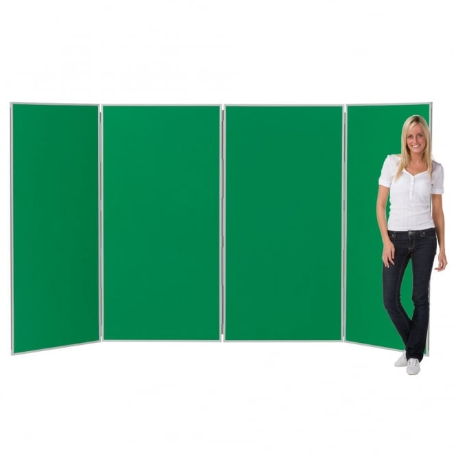Jumbo Display Boards, 4 Panel with Grey Plastic Frame