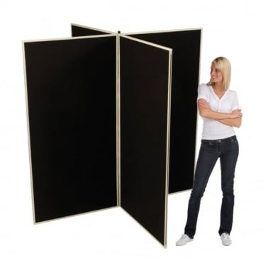 Jumbo Slimflex Display Boards, 4 Panel with Grey Plastic Frame