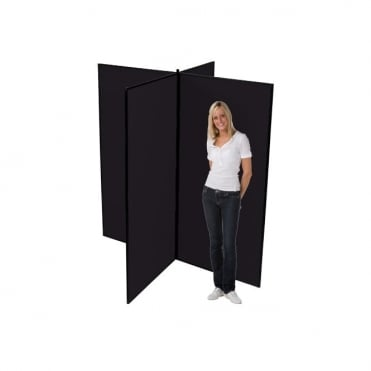 Large Display Boards, Black 4 Panel From Panel Warehouse
