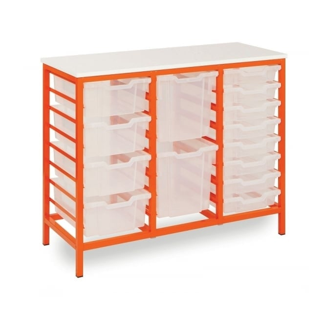 Metal Frame 24 Tray Storage Unit