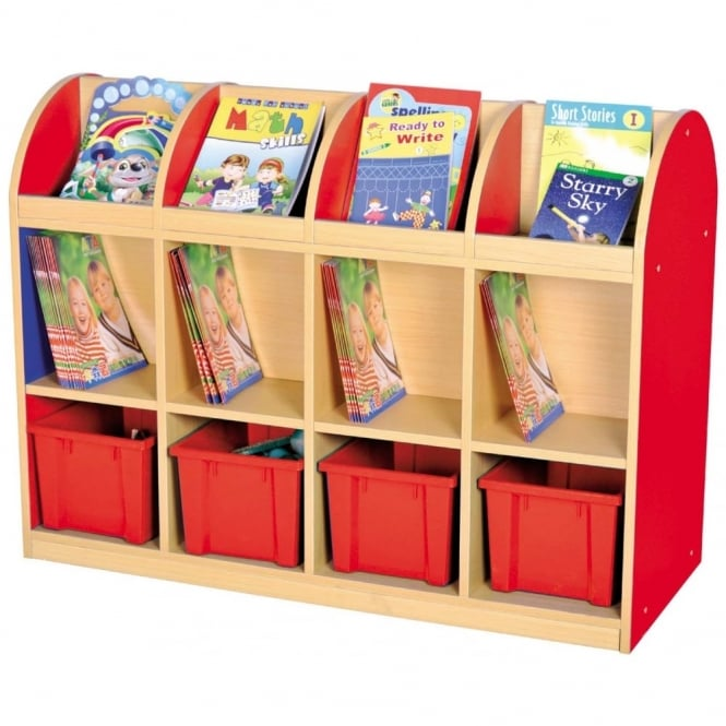 Milan Double Sided Book Storage – 4 Trays