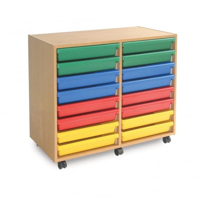 Mobile 16 Tray A3 Paper Storage Unit