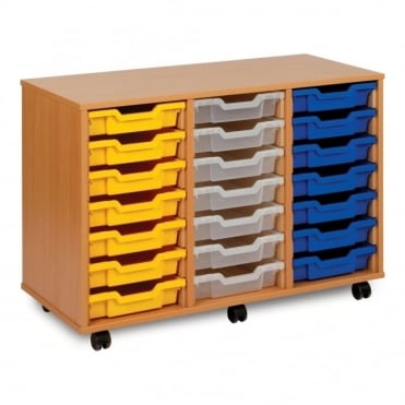 Mobile 21 Shallow Tray Storage Unit