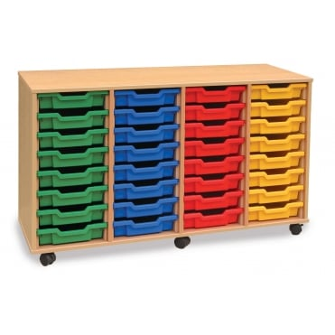 Mobile 32 Shallow Tray Storage Unit